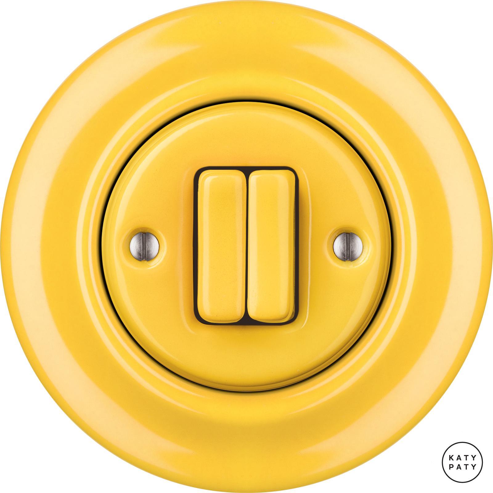 Roo Porzellan Lichtschalter - 2 Tasten - NITOR LUTEA | Katy Paty